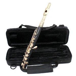 Flauta Flatim Piccolo Slade Usa, Em Dó, Chaves Douradas Novo