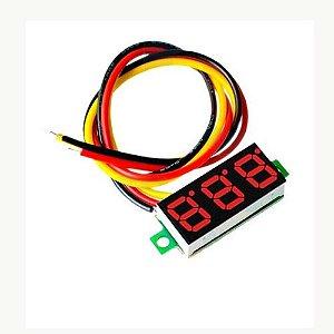 Mini Medidor De Tensão Voltímetro Dc 0-100v 3  Fios