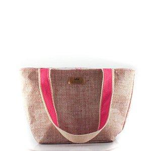 Bolsa Térmica Anini Cute Palha e Pink