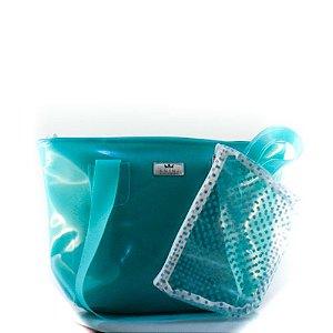 Bolsa Silicone Anini Verde Tiffany + Necessaire Verde Tiffany