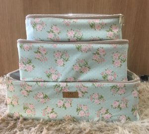 Kit de Organizadores de Mala e Closet Floral P M G