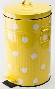 Lixeira retrô amarela BTC - Tamanho G
