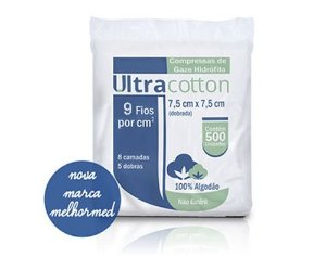 Compressa de Gaze 9 FIOS (500UN) - Ultracotton
