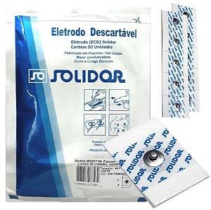 Eletrodo Descartável para ECG Adulto/Infantil Solidor - Pacote com 50 Unidades