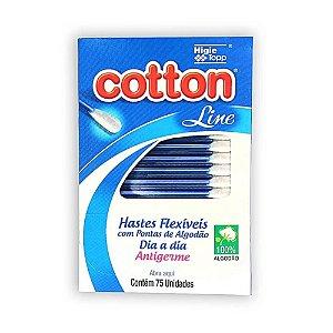 Cotonetes Cotton Line (75UN) - Higie Topp