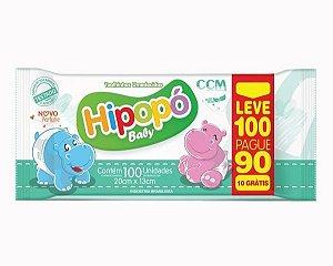 Toalhas Umedecidas Hipopó Baby (100UN) - CCM