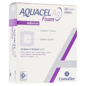 Curativo Aquacel AG FOAM Com Adesivo 12,5cm x 12,5cm - Convatec