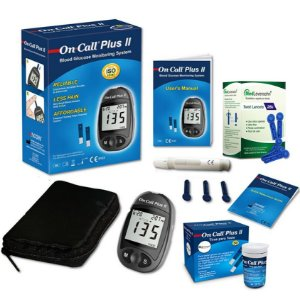 Kit Medidor de Glicose + 50 Tiras - On Call Plus II