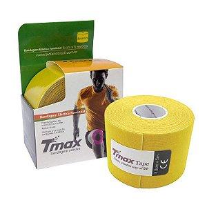 Fita Kinesio Bandagem Adesiva Tmax - Amarelo