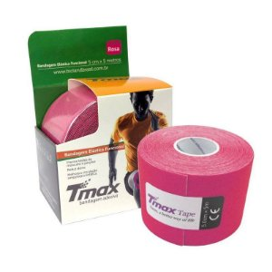 Fita Kinesio Bandagem Adesiva Tmax - Rosa