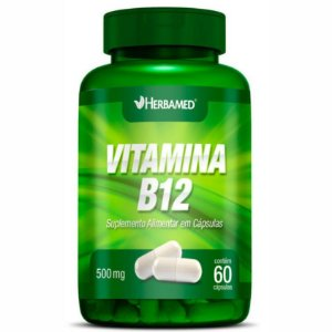 Vitamina B12 500mg (60Caps) - Herbamed