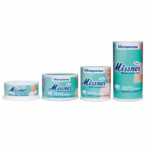Fita Micropore Hipoalérgica Branca Missner - 1 Unidade