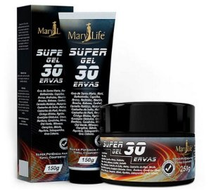 Gel Massageador Super Gel 30 Ervas - Mary Life