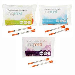Seringa para Insulina com Agulha 30G 8x0,30mm (10UN) - UNIQMED
