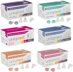 Agulhas para Caneta de Insulina Uniqmed - Caixa com 100 Unidades