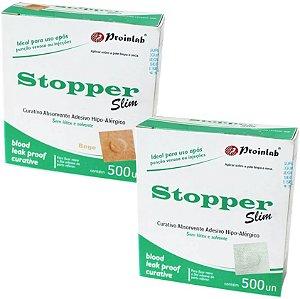 Curativo Adesivo Redondo Stopper Slim - Caixa com 500 Unidades