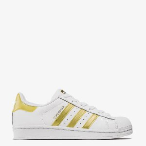 Tênis Adidas Originals Superstar Foundation Branco e Dourado