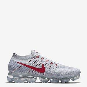 Tênis Nike Air VaporMax Flyknit Branco / Vermelho