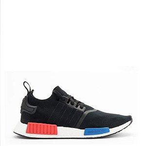 Tênis Adidas NMD R1 PK Primeknit Preto / Azul / Vermelho