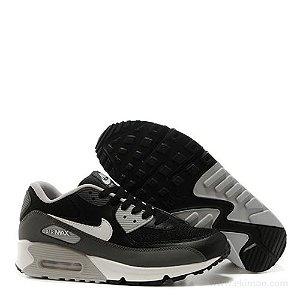 Tênis Nike Air Max 90 Cinza / Preto / Branco