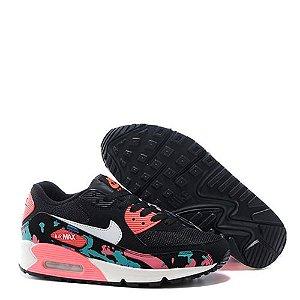 Tênis Nike Air Max 90 Feminino Preto Floral