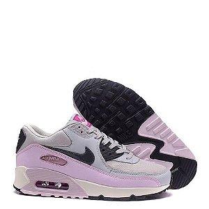 Tênis Nike Air Max 90 Feminino Cinza e Rosa