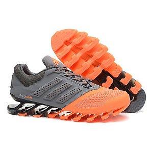 Tênis Adidas Springblade Drive 3 Cinza e Laranja