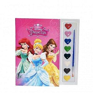 Livro Pintura com Aquarela Princesas Disney