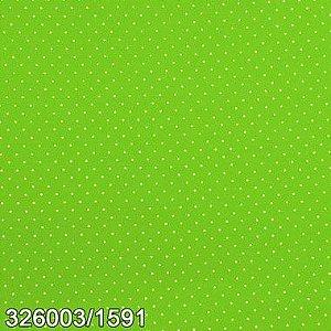 Tecido Círculo Poá Verde Claro bolinhas brancas 1591 - 0,50cmx1,46 Mts