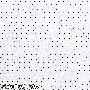 Tricoline 100% algodão Poá Círculo- Branco com bolinhas Pretas - 1587 - 0,50cm