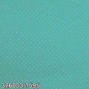Tricoline 100% algodão Poá 1595 Azul Bebê/Poá Branco - 0,50cm