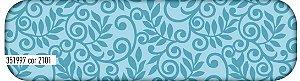 Tecido Tricoline Círculo Floral Azul -2101 - 50cmX1,46cm