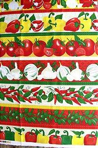 Tecido Círculo Barrado Legumes  -1994 - 50cmX1,50cm