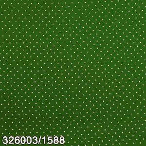 Tecido Círculo Poá Musgo e branco - 1588 - 0,50cmx1,46 Mts