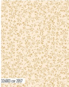 Tecido Círculo Floral Folhas Secas  - cor 2057 - 0,50cm X 1,46 Mts