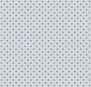 Tricoline 100% algodão Poá - Branco com bolinhas Azuis - 0,50cm