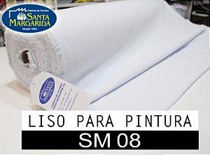 5Mts-Tecido Alvejado SM08 Santa Margarida - Liso PARA PINTURA - 0,78cmx5m - 5 metros