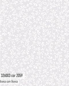 Tecido Círculo Arabesco Branco - 2059 - 0,50cmx1,50 Mts