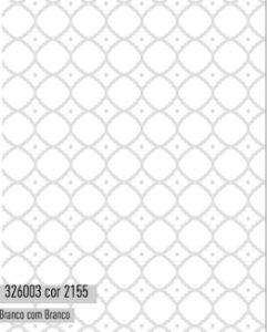 Tecido Tricoline Círculo felícia Branco - 2155 - 0,50cmx1,46 Mts