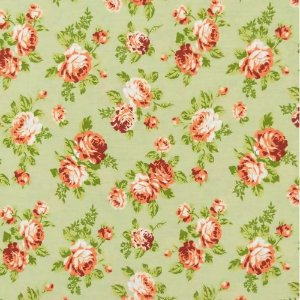 Tecido Círculo Floral Viena Bege  - 2256 - 0,50cmx1,46 Mts