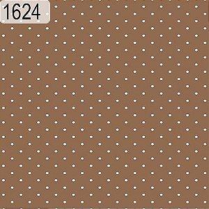 Tecido Círculo Poá CASTOR- Bolinhas brancas - 1624 - 0,50cmx1,46 Mts