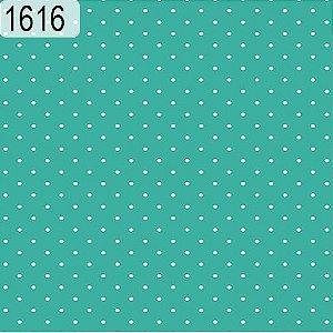 Tecido Círculo Poá TIFFANY- Bolinhas brancas - 1616 - 0,50cmx1,46 Mts