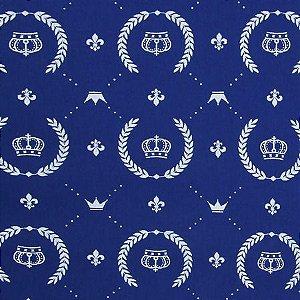 Tecido Círculo COROAS azuis - 2225 - 0,50cmx1,46 Mts