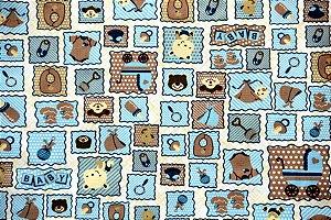 Tecido Círculo Baby Azul - 2143 - 0,50cmx1,46 Mts