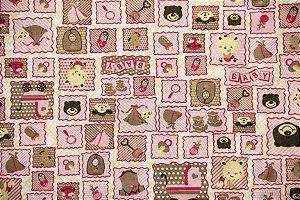 Tecido Círculo Baby Rosa - 2145 - 0,50cmx1,46 Mts