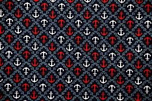 Tecido Círculo Navy Âncora Azul - 2239 - 0,50cmx1,46 Mts