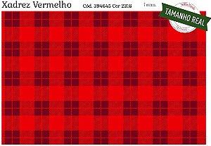 Tecido Círculo XADREZ VERMELHO ESPECIAL- 2316 - 0,50cmx1,46 Mts