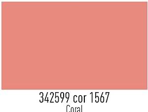 Tecido Círculo Tricoline liso CORAL - 1567 - 0,50cmx1,50 Mts