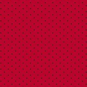 Tecido Círculo Poá JOANINHA- Bolinhas pretas - 1583 - 0,50cmx1,50 Mts