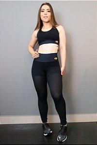 Legging com Short Preta - Flex 8428